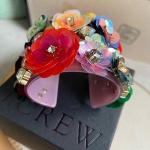🔥RELISTED NIB JCrew FloralSequinPaliette Bracelet